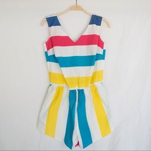 90s Two Piece Bright Stripe Jumper